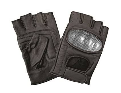 Fingerless motorcycle gloves men