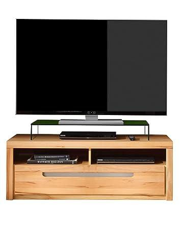 Maisonnerie 1230-316-65 Zino Meuble TV Armoire Coeur de Hêtre Façade Massif LxHxP 123x43x50 cm