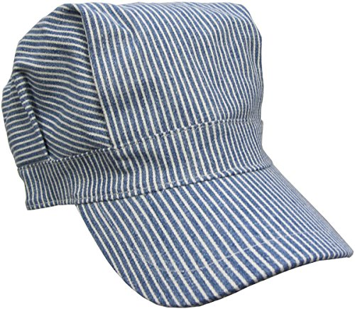 Child's Blue Engineer Train Conductor Hat - 1