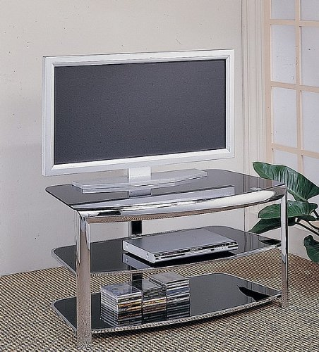 Cheap Contemporary Chrome Finish Metal Plasma Flat Panel TV Stand (B000S1KC5O)