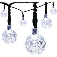 EasyDecor 21-Foot 30-LED Solar Christmas String Lights (Cool White)