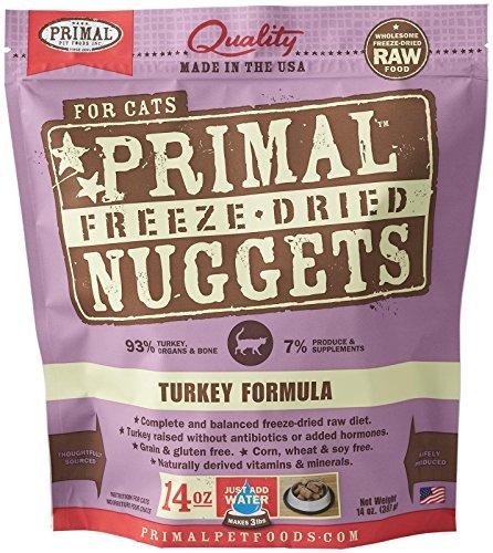 Primal Pet Foods Freeze-Dried Feline Turkey Formula, 14 OZ (Primal Freeze Dried Food compare prices)