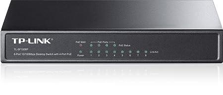 TP-LINK TL-SF1008P Switch PoE 8 Ports 10/100Mbps (4 Ports PoE, Bureau, Boîtier Métal)