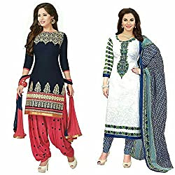S.B CREATION Women's Printed Unstitched Regular Wear Salwar Suit Dress Material (Combo pack of 2)(SB-SeewtBanno-22)