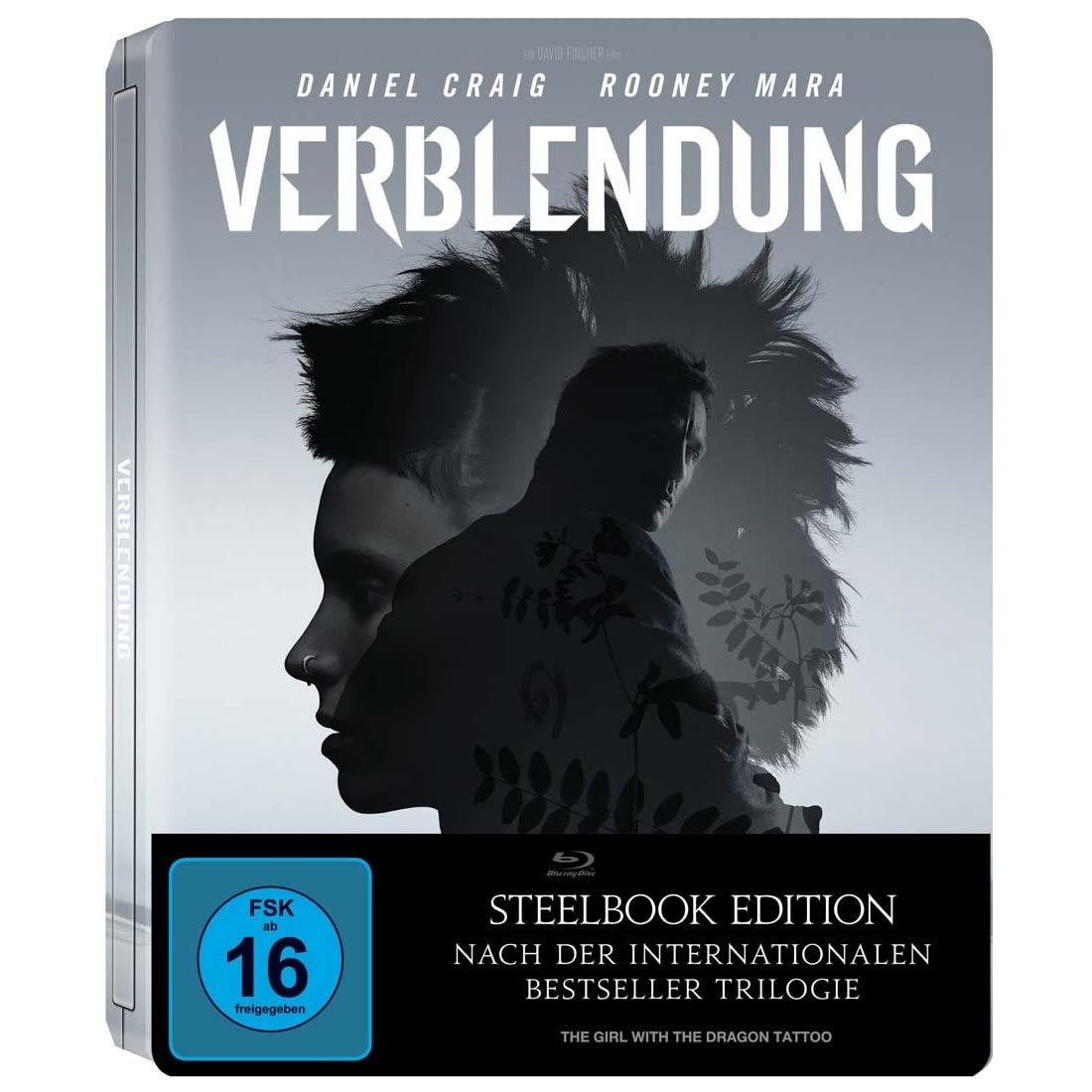 The girl with the dragon tattoo blu ray steelbook for Girl with dragon tattoo books in order