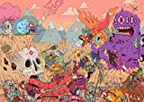 """Psychedelic Trippy Art Fabric Cloth Rolled Wall Poster Print -- Size: (32"""" x 24"""" / 17"""" x 13"""")"""