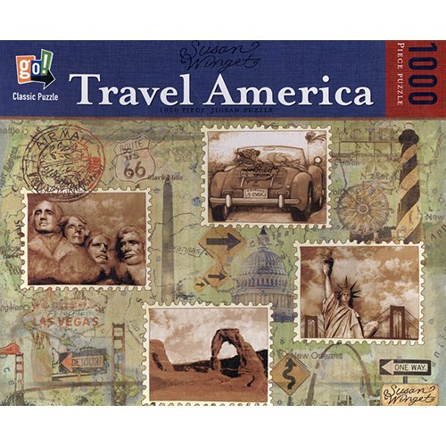 "Susan Winget ""Travel America"" 1,000 Piece Jigsaw Puzzle by Go! - 1"