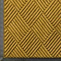 "Andersen 208 WaterHog Classic Diamond Polypropylene Fiber Entrance Indoor/Outdoor Floor Mat, SBR Rubber Backing, 4' Length x 3' Width, 3/8"" Thick, Yellow"