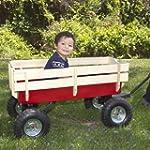 ALL Terrain Pulling Wood Wagon Red w/...