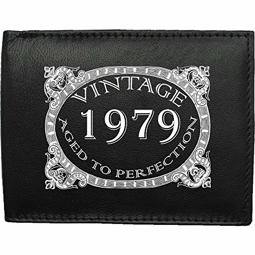 1979-millsime-mri-g--la-perfection-Portefeuille-Pour-Hommes-En-Cuir-Noir-cuir-velours-image-imprime-wallet-cadeau-prsent-humour-plaisanterie-blague-plaisanterie-drle-humoristique