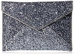 Rebecca Minkoff Leo Envelope Clutch, Silver/Silver, One Size