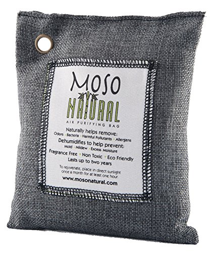 Moso Natural Air Purifying Bag, Charcoal Color, 200-G