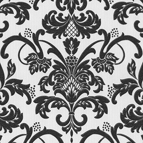 ps-vinyl-tapete-damast-muster-blumen-motiv-glitzer-gepragt-texturiert-schwarz-weiss-18132-20