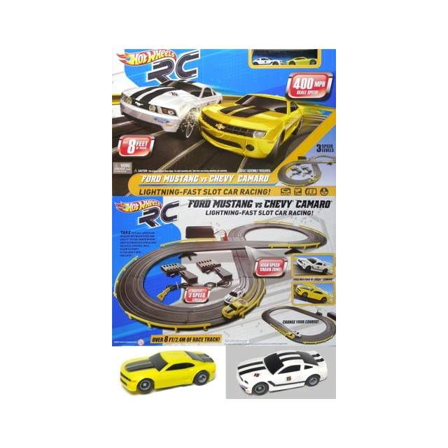 Hot Wheels RC Ford Vs Chevy Slot Car Set