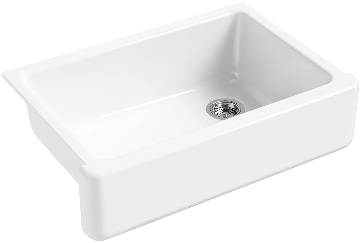 KOHLER K-5827-0 Whitehaven Self-Trimming Under-Mount Single-Bowl Sink ...