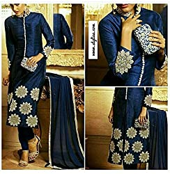 Shree Fashion Woman's Cotton With Dupatta [Shree (45)_Blue]