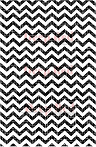 Deep Red Rubber Cling Stamp Chevron Weave Background Graphic Print