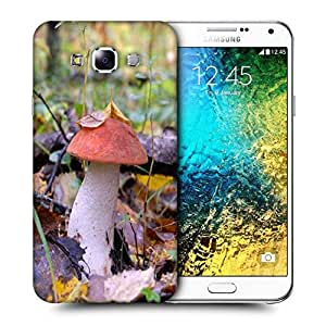 Snoogg Red Mushroom Printed Protective Phone Back Case Cover ForSamsung Galaxy E7
