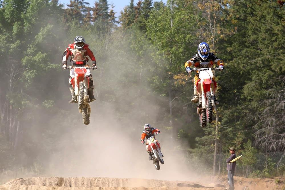 Motocross Wall Murals - Up in the Air - 24 inches x 16 inches - Peel and Stick Removable Graphic