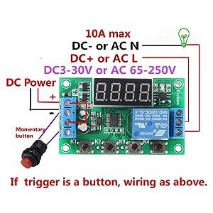 Mini DC 5V 12V Programmable Timer Relay Delay Module 24 Programs Infinite Cycle on/off Switch 0.01Sec to 999Min Adjustable (DC 5V Version) (Color: DC 5V Version)