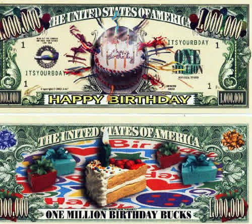 (25) Happy Birthday Million Dollar Bill - 1