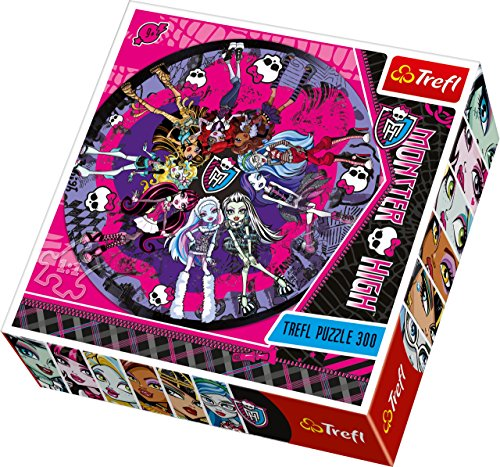 Trefl-Round-Puzzle-Terrible-Fashion-Show-Mattel-Monster-High-300-Pieces