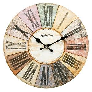 Horloge murale moderne multicolore design contemporain for Horloge murale moderne design