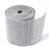 Dress My Cupcake Silver Diamond Rhinestone Ribbon Wrap BULK 30 feet - Wedding Decorations, Party Supplies