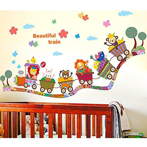 Japace-Tiere-Karikatur-Babyzimmer-Wandsticker-Wandtattoo-Wunderschnes-Zuhause-Decortion