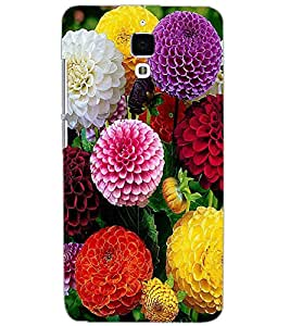 XIAOMI MI4 DUAL FLOWERS Back Cover by PRINTSWAG