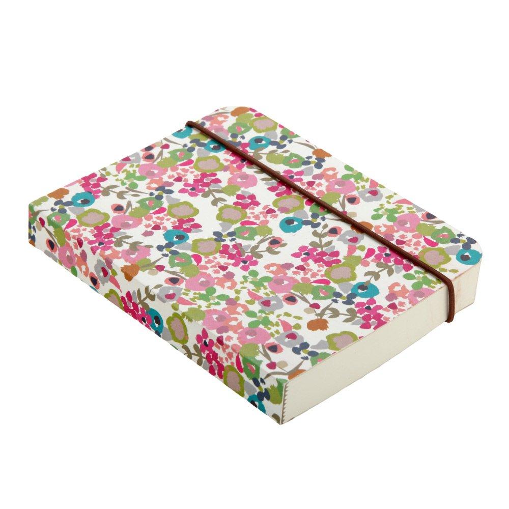 Caroline Gardner Light Ditsy Print Small Chunky Elastic Closure Notebook