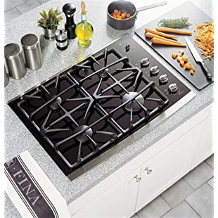 GE Profile : JGP940SEKSS 30in Gas Cooktop with 4 Sealed Burners
