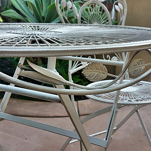 Modern Home Bordeaux Antiqued Iron 3pc Folding Bistro Set 3