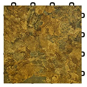 Basement Interlocking Laminate Tiles Slate 27 Sq Ft