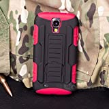 Galaxy S4 Case, Cocomii® [HEAVY DUTY] Galaxy S4 Robot Case **NEW** [ULTRA FUTURE ARMOR] Premium Belt Clip Holster Kickstand Bumper Case - Full-body Rugged Protective Cover for Samsung Galaxy S4 (Black/Red) ★★★★★