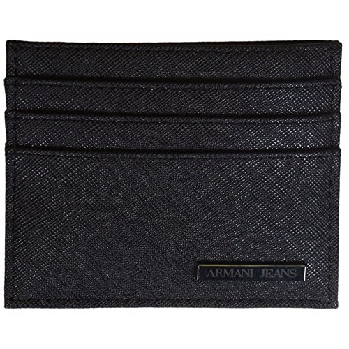Armani-Jeans-06V2R-Black-Cardholder