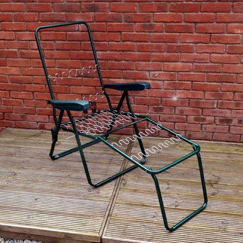 Home & Garden Direct Garden Patio Lounger Chair Frame Green