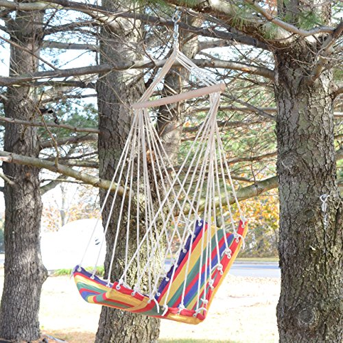 Fabric hammock chair furniture chairs hanging chairs for Fabric hammock chair