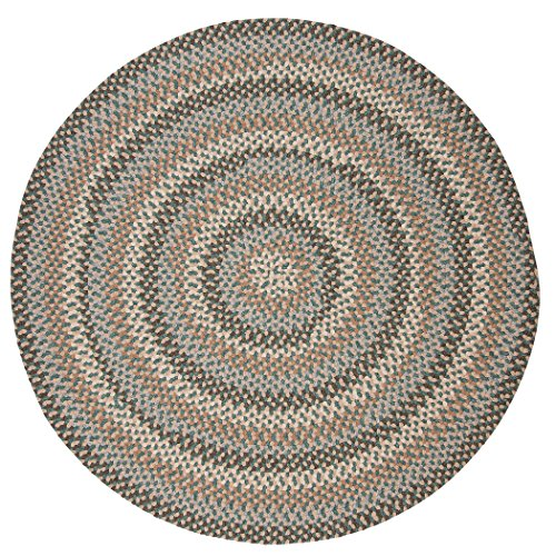 Boston Common Polypropylene Braided Round Rug, 10-Feet, Driftwood Teal