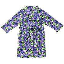 Purple Frog Fleece Bathrobe for Girls S/7-8