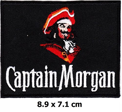 captain-morgan-iron-on-logo-vest-jacket-cap-hoodie-backpack-patch-iron-on-sew-on-patch-by-w-expert-s