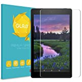 "Fintie Tempered Glass Screen Protector for Amazon Fire HD 8 Tablet, 9H Ultra Clear Anti-Scratch Oleophobic Screen Protector for Fire 8"" HD Display Tablet (7th Gen 2017 / 6th Gen 2016 / 5th Gen 2015)"