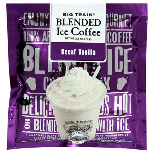 Big Train Blended Ice Coffee, Decaf Vanilla, 2.8-Ounce Bags (Pack of 25)