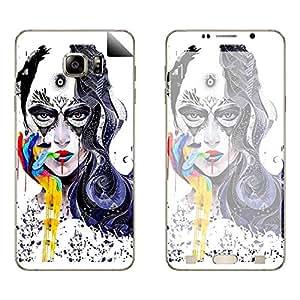 Skintice Designer Vinyl Skin Sticker for Samsung Galaxy Note5, Design - Face