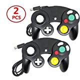 Classic Wired Gamepad Joystick Controllers Wii Game Cube (2 PCS Black) (Color: 2 PCS Black)