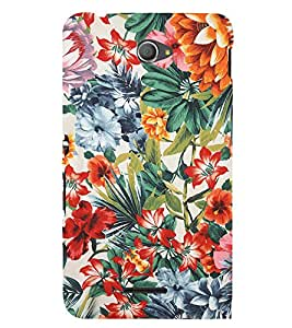 Floral Painting 3D Hard Polycarbonate Designer Back Case Cover for Sony Xperia E4 Dual :: Sony Xperia E4
