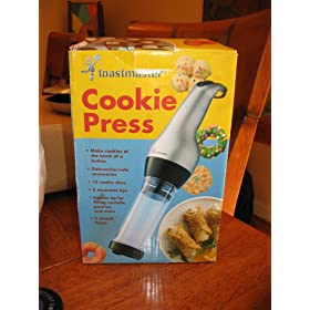 Toastmaster Electric Cookie Press TMCKM2SB