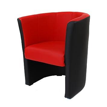 fauteuil cabriolet simili cuir noir