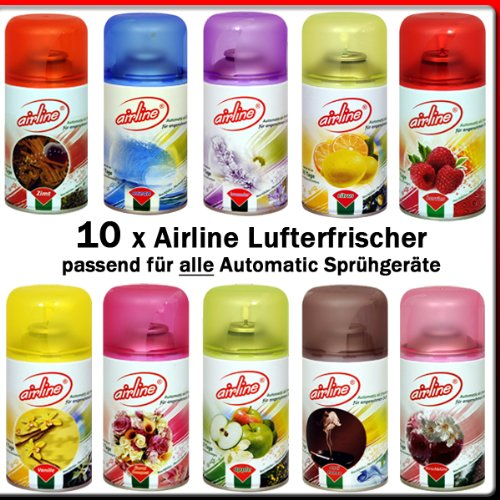 10 x Airline Lufterfrischer Mix