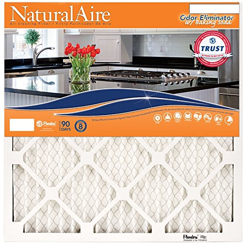 NaturalAire Odor Eliminator Air Filter with Baking Soda, MERV 8, 20 x 21 x 1-Inch, 4-Pack